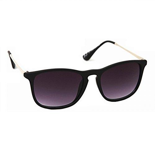 Rectangular Plastic Frame Sunglasses - 6