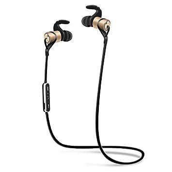 HHLUW Nuevo Diseño Deportes Inalámbrico Auricular Bluetooth Anti-Sudor Auriculares Auriculares de Metal con Micrófono