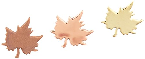 CREATIVE IMPRESSIONS Metal Paper Fasteners 50/Pkg, Leaves - Metallic