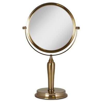 Michael Jackson Makeup (Anaheim 1x/5x Two-Sided Vanity Swivel Mirror in Gold)