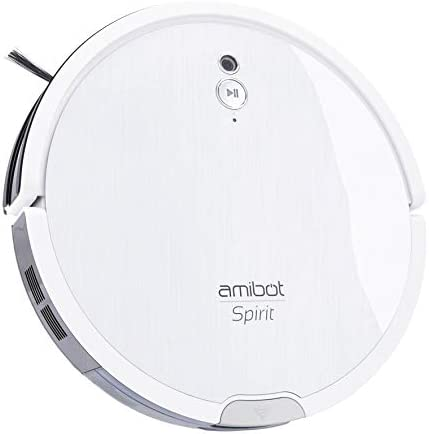 AMIBOT Spirit Motion avec cartographie caméra et mop vibrante - Robot aspirateur et Laveur cyclonique Nouvelle génération