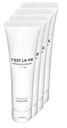 50 Bulk Pack - Hydrating Conditioner + Argan Oil By CEST LA VIE - 40ml / 1.35 fl oz - Travel Guest & Hotel Amenities - Individual Tubes in Eco Responsible Packaging. Paraben & Cruelty Free (White)