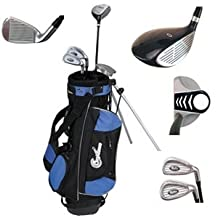 Confidence Junior Golf Club Set with Stand Bag (Left Handed, Ages 8-12)