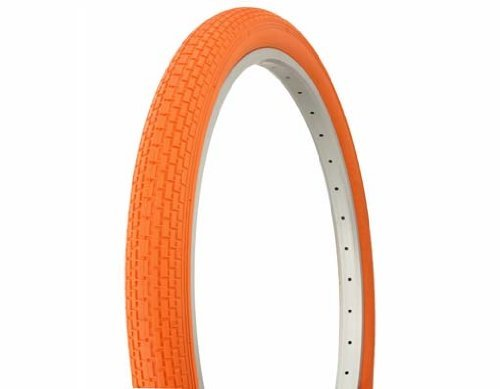 PAIR of Duro 26 x 2.125 Orange/Orange Side Wall HF-120A. Bicycle tire, bike tire, beach cruiser bike tire, cruiser bike tire, chopper bike tire, trike tire, tricycle tire by Duro