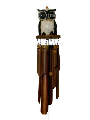 Cohasset 246 Oscar Owl Bamboo Wind Chime, Tan