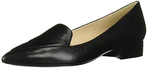Cole Haan Women's DELLORA Skimmer Ballet Flat, Black Leather, 8 B US