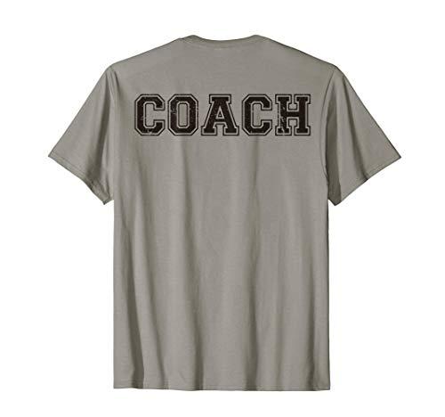 a768e735b Coach On Back T-Shirt, Softball Gift, Coaching Team Baseball