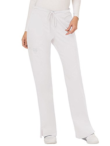 - WW Revolution by Cherokee Women's Mid Rise Moderate Flare Drawstring Pant Tall, White, X-Large Tall