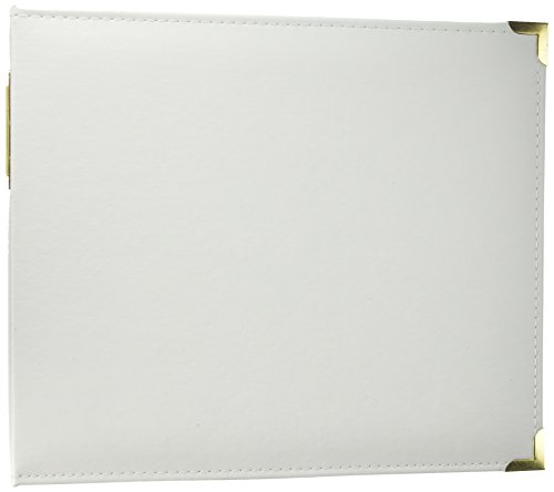 Project Life White & Gold 12x12 Faux Leather - 12 Leather Faux