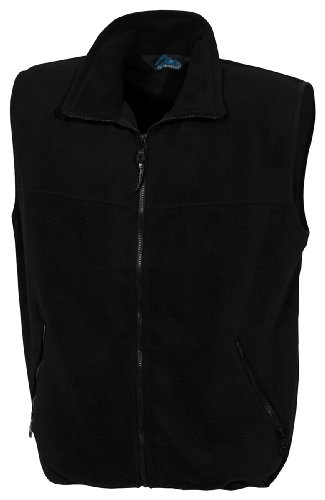 Tri-Mountain 8350 Panda fleece vest - Black / Black - 3XL (Black Outerwear Mountain)