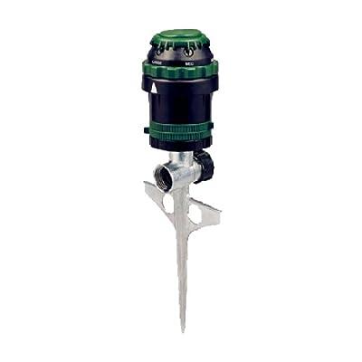 Orbit H20-6 Gear Driven Sprinkler on Sturdy Spike Base for Lawn Watering, 58573N