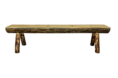 Montana Woodworks Glacier Country Collection Wood Log Bench, 6 Foot, Exterior Stain Finish