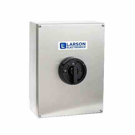 C1D2 Explosion Proof Disconnect Switch - 16 Amp Rated - Stainless Steel - (2) 3/4'' Hubs by Larson Electronics
