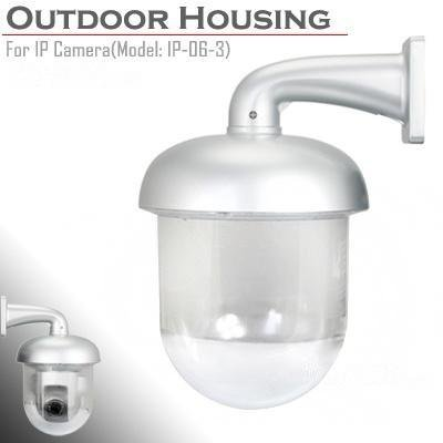 Brand New CCTV Outdoor Dome Housing Transparent Enclosure for IP Pan Tilt Camera (Weatherproof Camera Housing)