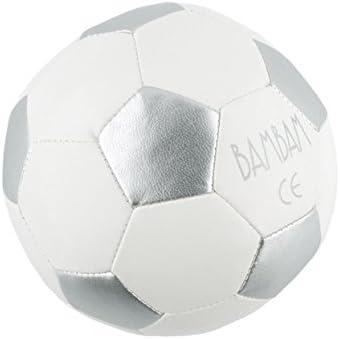Bam Bam - El balón de fútbol, tamaño pequeño, color: plata/blanco ...