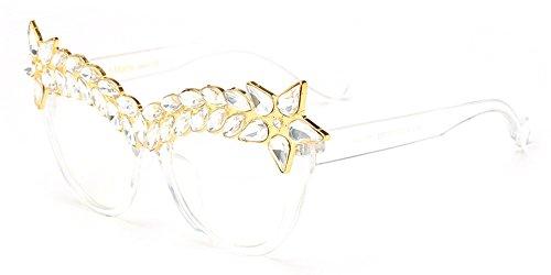 De Rétro Lunettes de Style Protection gamme de BOZEVON Luxe Décoré Femmes Haut Soleil Lunettes 06 Classique Diamant UV400 w6vvXH