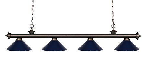 Z-Lite 200-4OB-MNB 4 Billiard Light, Olde Bronze