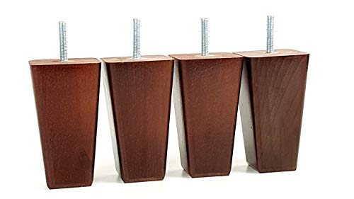 Wooden Furniture Feet, 120mm High, Replacement Sofa Legs, M8(8mm) For Settees, Chairs, Footstools, etc. - PKC351A