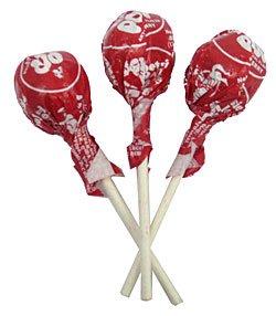 Tootsie Pops - Cherry-5 lbs (Cherry Tootsie Roll Pops)
