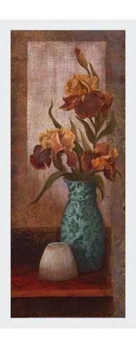 (Poster Palooza Framed Spiced Jewels II - Mini- 8x20 Inches - Art Print (Classic White Frame))