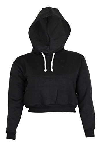 Noroze Womens Plain Crop Hoodies product image