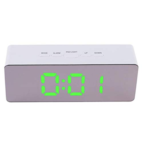 ❤️Ywoow❤️, Multi Functional Digital LED Mirror Clock Alarm Night Lights Thermometer