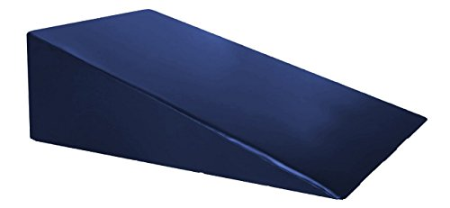 "Vinyl Covered Foam Positioning Wedge Support Pillow (24"" X 24"" X 12"") NAVY"