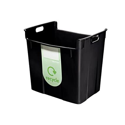 Leitz Plus – Papelera (polipropileno, 40 L) 100% reciclable, color negro