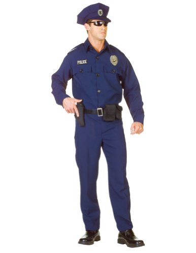 [Underwraps Men's Plus-Size Officer -Plus, Blue/Black, XX-Large] (Mens Halloween Costume Ideas Last Minutes)