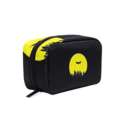 Black Batman Cosmetic Makeup Bag Pouch Purse Case Handbag Organizer with Zipper Bathroom Bag ()