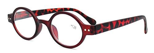 Vintage Oval Round Brown Reading Glasses Readers Spring Hinge Eyeglass +2.00 Strength (2.00, - For Glasses Price Average Prescription