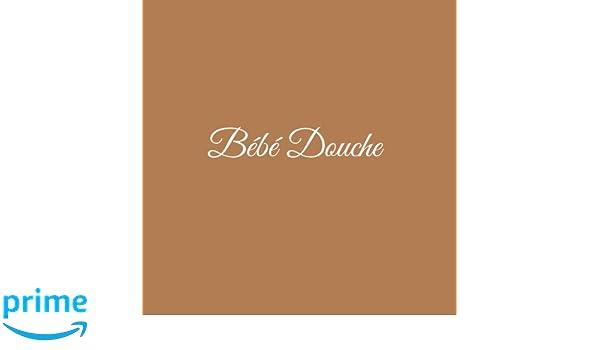 Livre dor Bébé Douche Baby Shower pour fête de naissance 21 x 21 cm Accessoires decoration idee cadeau fête de naissance bébé Couverture Marron (French ...