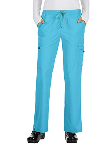 KOI Basics 731 Women's Holly Scrub Pants Electric Blue L