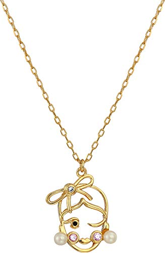 Kate Spade New York Women's Celestial Charm Virgo Pendant Necklace Clear/Gold One Size ()
