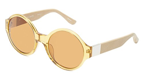 The Row x Linda Farrow 'The Row 45' Round Leather & Acetate - The Round Row Sunglasses