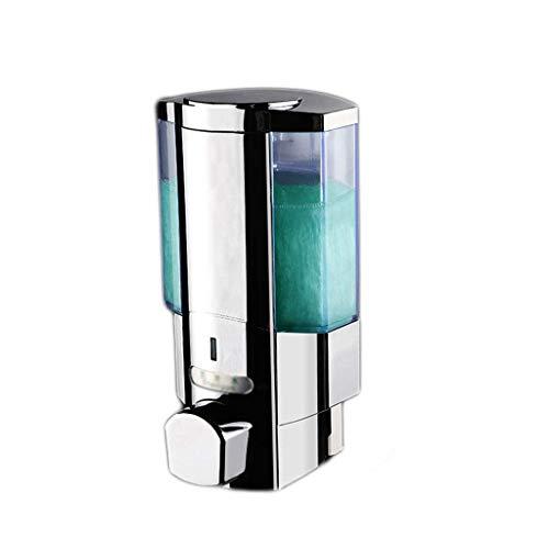 Modern Liquid Soap Dispenser Single Twin Duo Dispenser Touch Dispenser Wall Mounted Soap Shampoo Bathroom Shower (350 ml2/chrome) (Size : 700ml) (Size : 350ml)