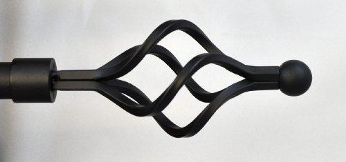 - Urbanest Classic Forged Iron Birdcage Window Drapery Rod Set (Black, 48