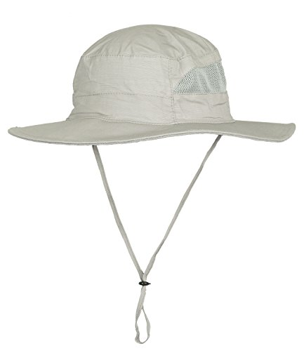 Mazo Camping Hat Outdoor Quick-dry Hat Sun Hat Fishing Cap, Light Gray , One Size -