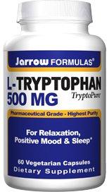 Jarrow Formulas L-tryptophane TryptoPure, 500mg, 60 VCaps