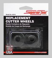 (Superior Tool 42215 Replacement Cutter Wheels (Iron & Steel Pipe)-Heavy Duty Pipe Cutter Replacement Wheels)