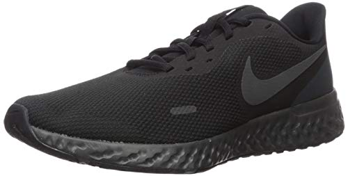 Nike Men's Revolution 5 Wide Running Shoe, Black/Anthracite, 11.5 4E US