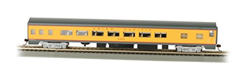 Bachmann Industries Union Pacific Smooth-Side Coach Car with Lighted Interior (HO Scale), 85'
