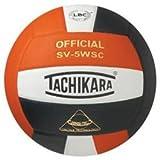 Tachikara Composite Volleyball - Sensi-Tec SV-5WSC, Colored Color: Orange/White/Black