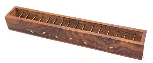 - Govinda Tibetan Lattice Wire Box Incense Burner - Inlaid Design