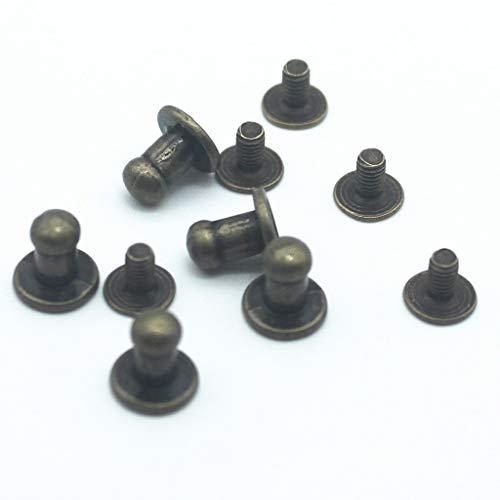 JLMetal 20pcs Mini Door Knobs Fittings Door Handles 1/12 Scale Dollhouse Miniature Handles Set 8.37.5mm Doll House Accessories -