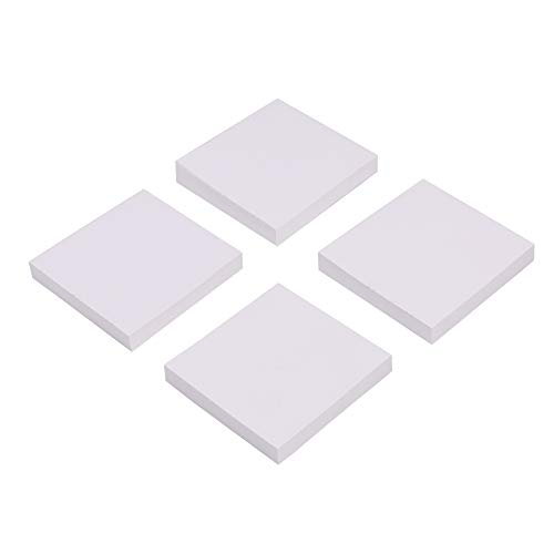 Eagle Sticky Notes, 3 X 3 Inch, 100 Sheets/Pad, 4 Pads (White)