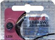 MAXELL SR616SW (321) 1 Silver Oxide (321 Maxell Watch Battery)