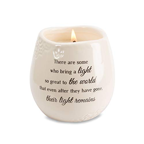 Pavilion Gift Company 19176 in in Memory Light Remains Ceramic Soy Wax Candle (Light A Candle In Memory Of Someone)