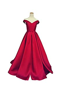 Selenova Women's Off The Shoulder A-Line Evening Ball Gowns With Bow
