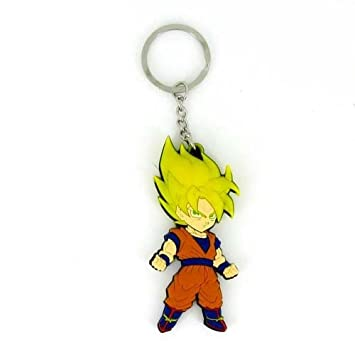 WoloShop Llavero de goma Goku SSJ2 Dragon Ball Z Doble Cara ...